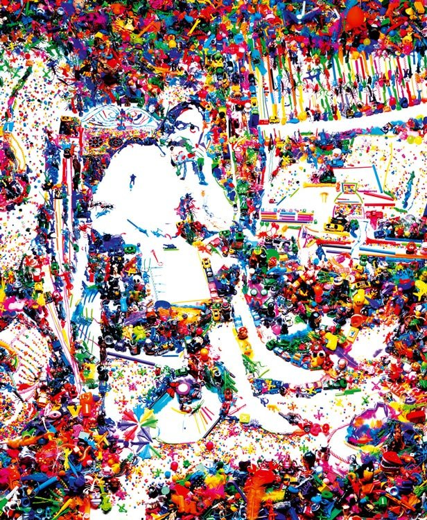 Vik Muniz - Don Quizxote in his study, after William Lake Prince