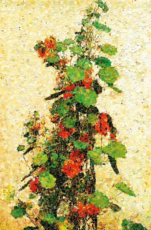 Vik Muniz  - Nasturtium, after Fantin Latour