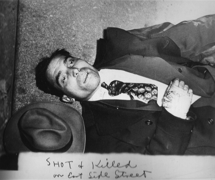 Weegee - Shot and killed on East Side street