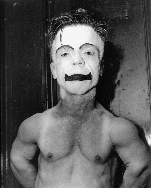 Weegee - The clown Jimmy Armstrong