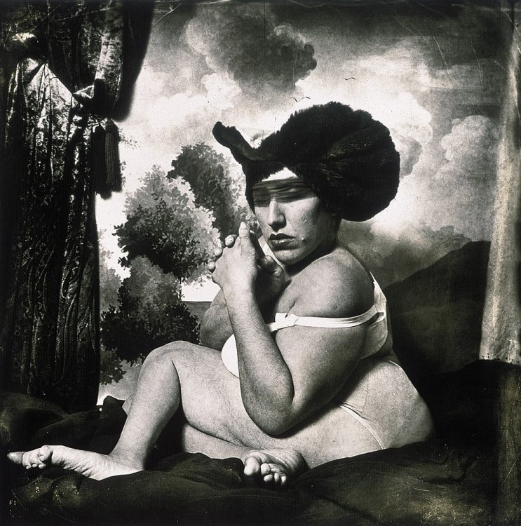 Joel-Peter Witkin - Woman in the blue hat