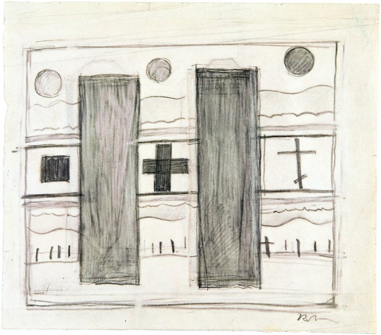 Kasimir Malevich - Cross square circle and grave