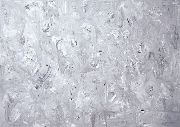 Andre Butzer  - Untitled (Monochrome painting).