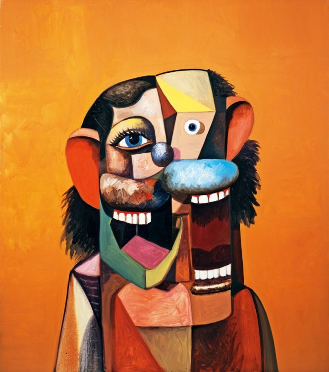 George Condo - Smiling Face