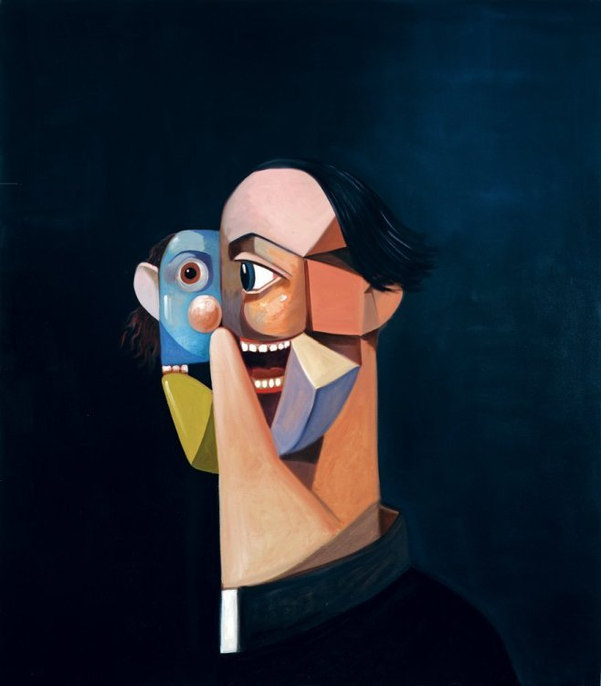 George Condo - Cubist priest