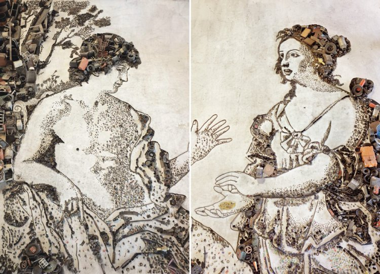Vik Muniz - Apollo and the Cumaean Sibyl