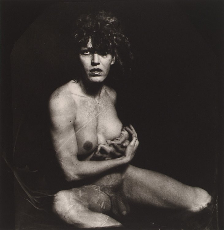 Joel-Peter Witkin - Androgyny breastfeeding a fetus