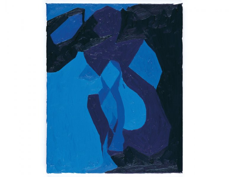 Chris Ofili  - Nude Study in Blue