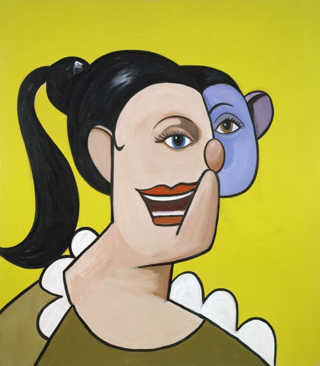 George Condo  - Girl with ponytail