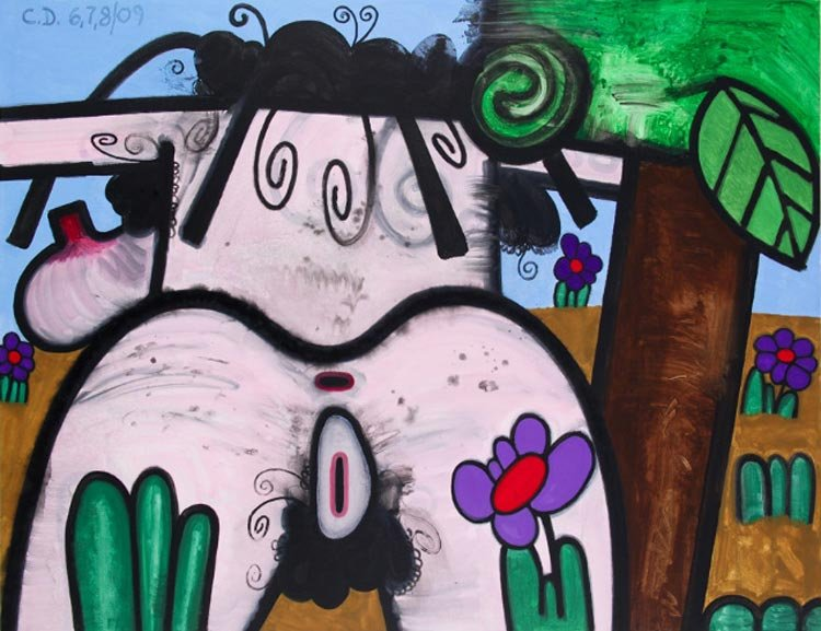 Carroll Dunham  - (Hers) Night and Day #1