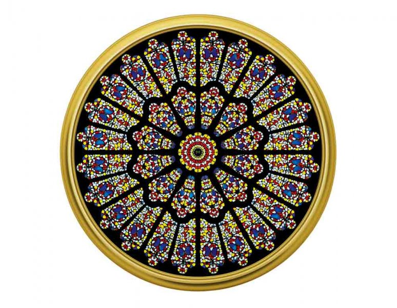 Damien Hirst  - The rose window, Durham Cathedral