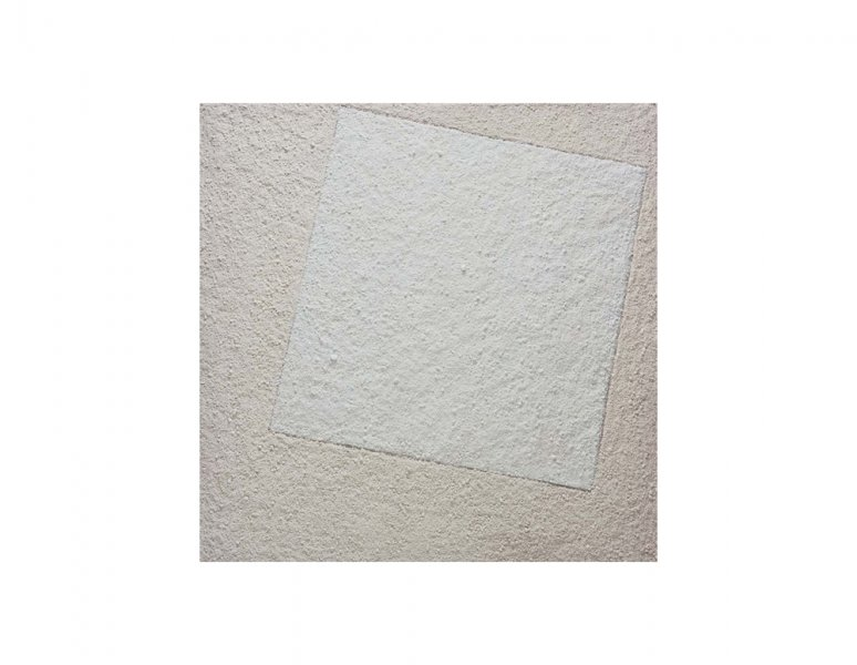 Vik Muniz - Suprematist composition: white on white, after Kazimir Malevich