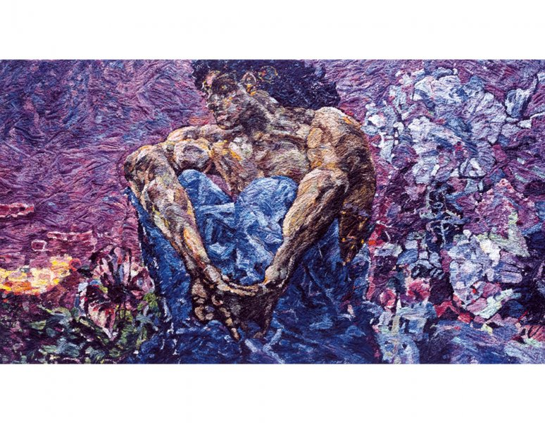 Vik Muniz - Demon, after Vrubel