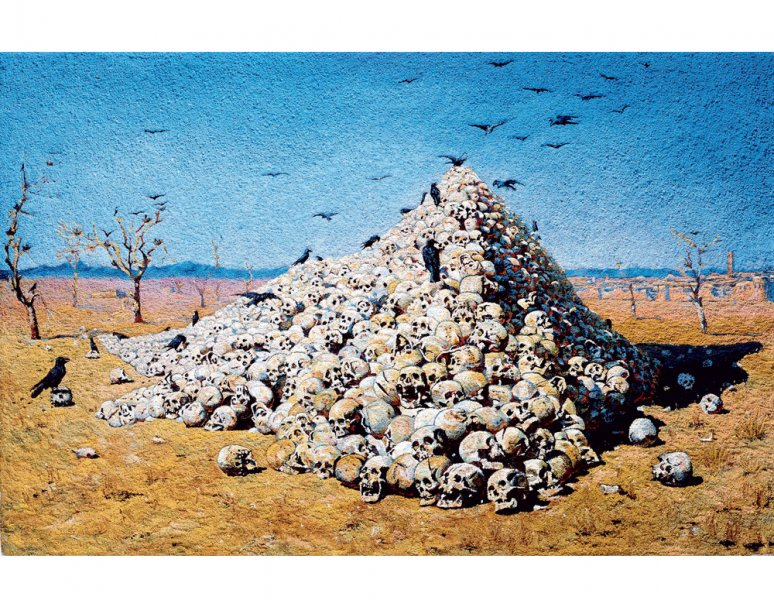 Vik Muniz - The Apotheosis of war, after Vereshchagin (Pictures of Pigment)