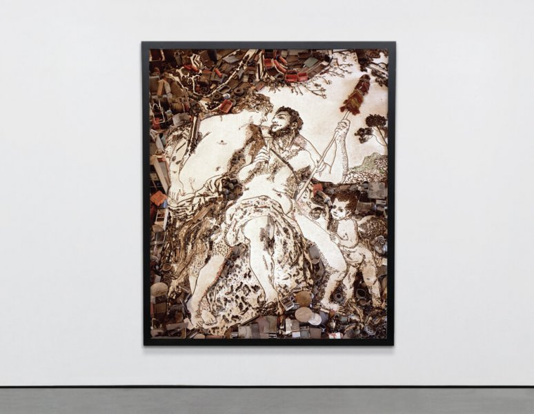 Vik Muniz - Hercules and Omphale, after Francois Lemoyne. «Pictures of junk».