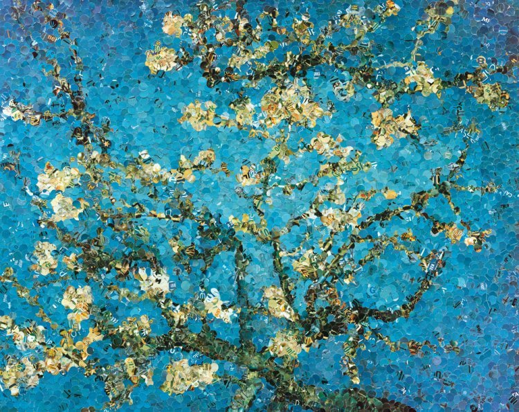 Vik Muniz - Almond Blossom, after Van Gogh. «Pictures of magazines».