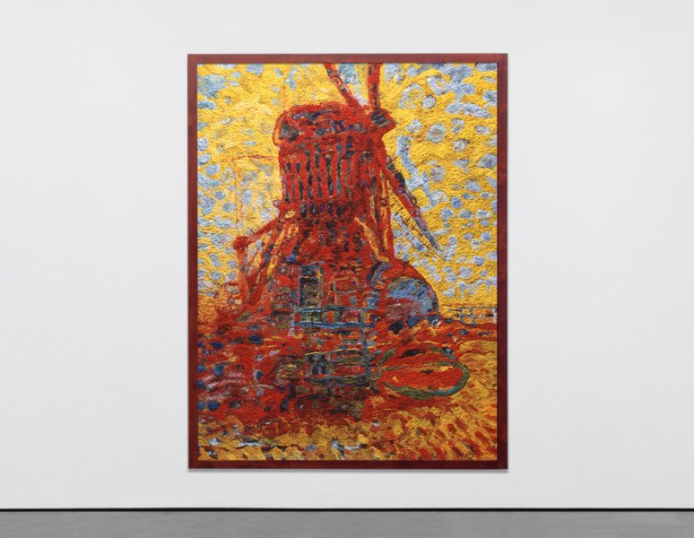 Vik Muniz - Mill in sunlight, after Piet Mondrian