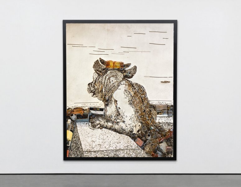 Vik Muniz - Minotaur, after George Frederick Watts. «Pictures of junk».