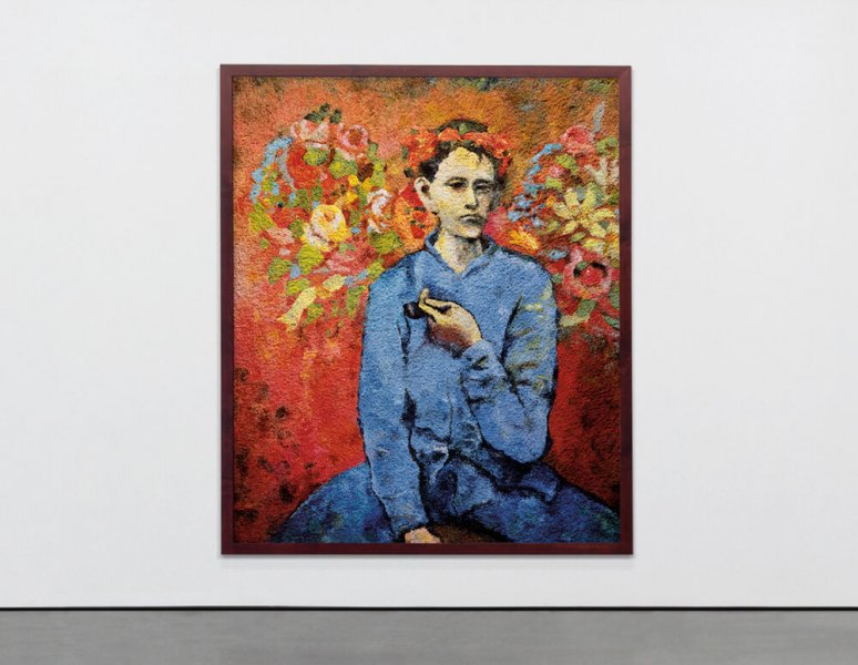 Vik Muniz - Boy with a pipe, after Picasso (Pictures of Pigment)