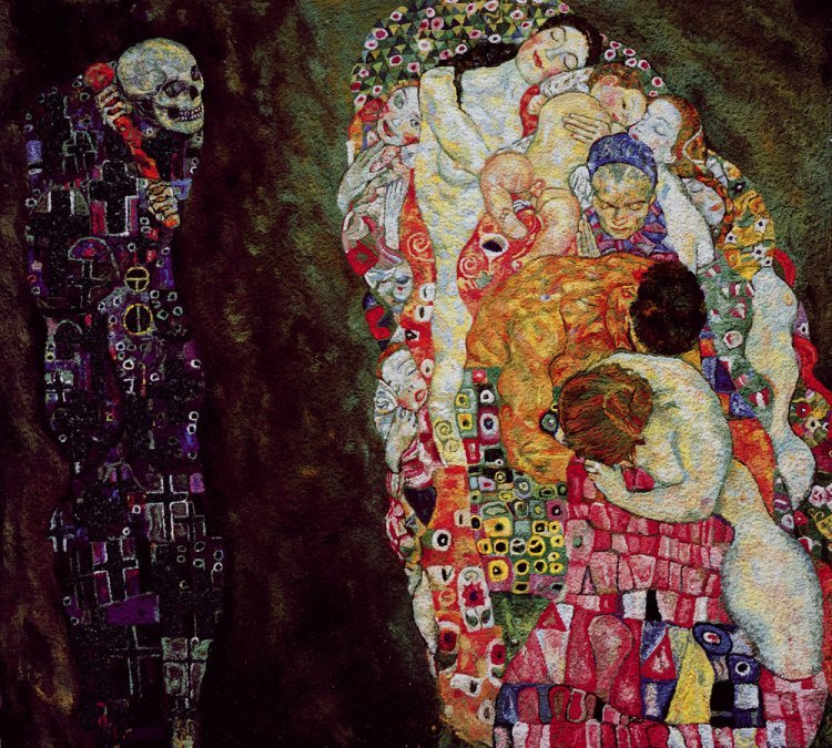 Vik Muniz - Death and Life, after Gustav Klimt