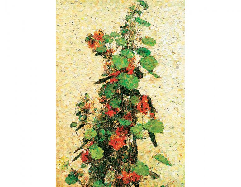 Vik Muniz - Nasturismus, after Fantin Latour. «Pictures of magazines».