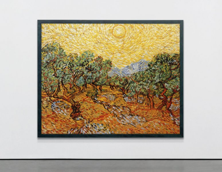Vik Muniz - Olive trees with yellow Sky and Sun, after Van Gogh