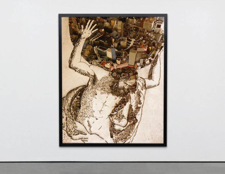Vik Muniz - Atlas, after Giovanni Francesco Barbieri. (Pictures of junk).