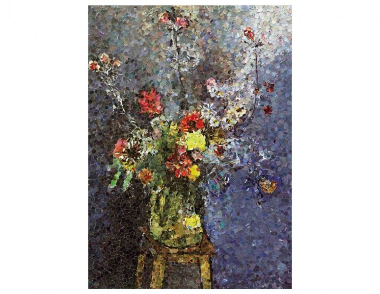 Vik Muniz - Bouquet, after Henri Matisse. (Pictures of magazines).