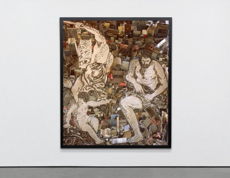 Vik Muniz - Vulcan forges Cupid's arrows, after Alessandro Tiariani. (Pictures of junk).