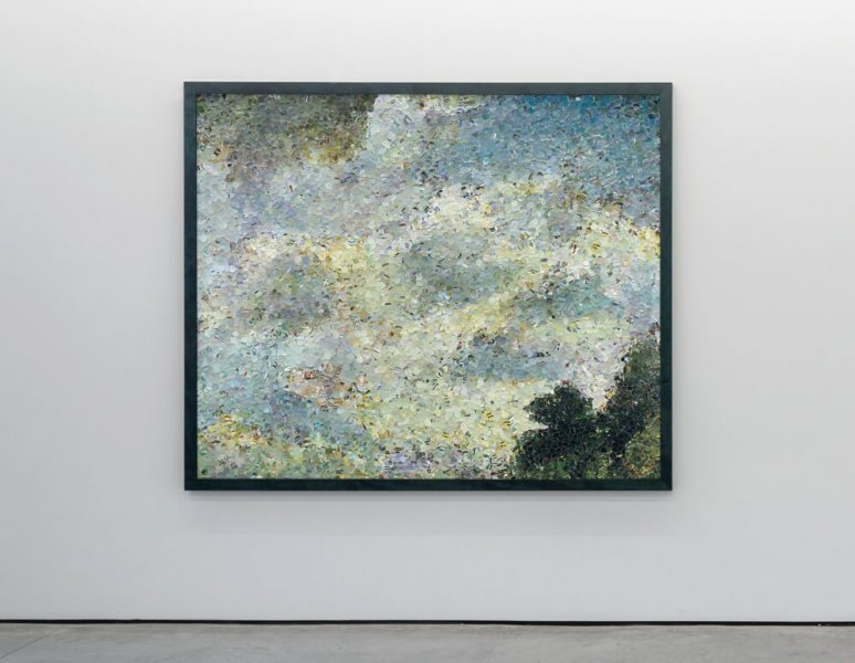 Vik Muniz - Study of clouds at Hampstead, after John Constable. (Pictures of magazines).