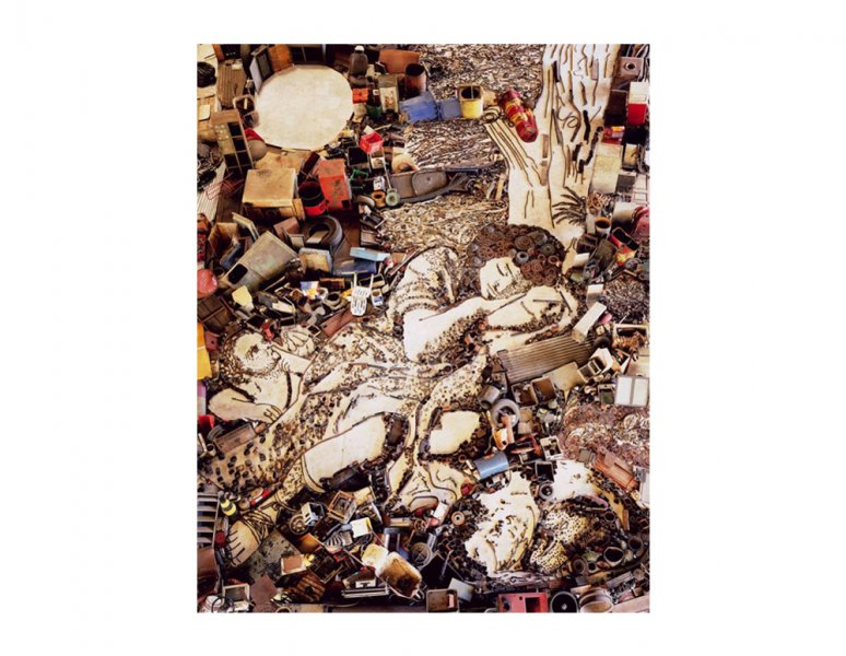 Vik Muniz - Diana and Endymion, after Francesco Mola. «Pictures of junk».