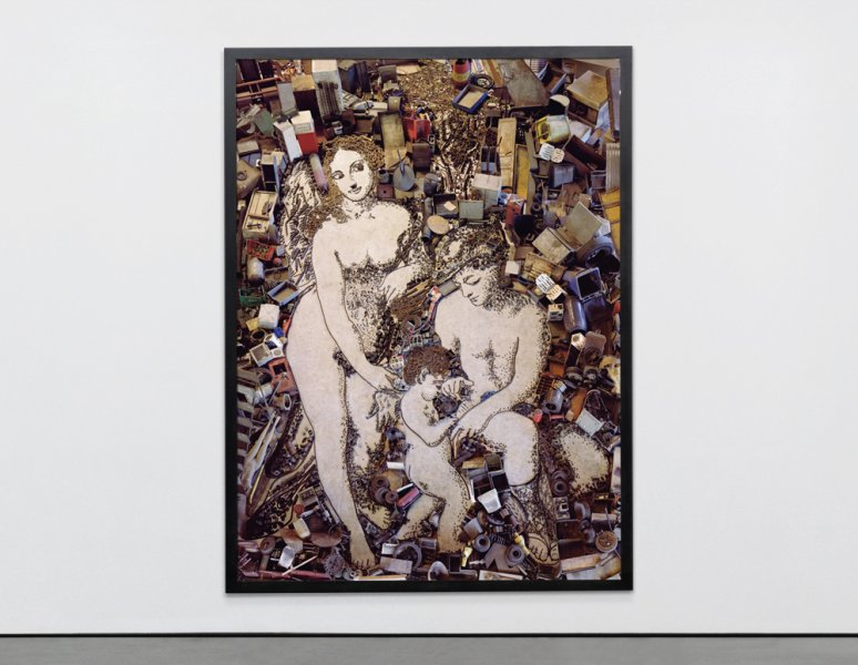 Vik Muniz - The Education of Cupid, after Correggio. (Pictures of junk).