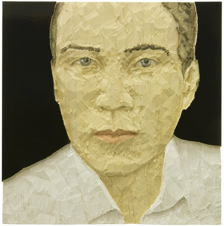 Stephan Balkenhol - Portrait of a man (Relief).