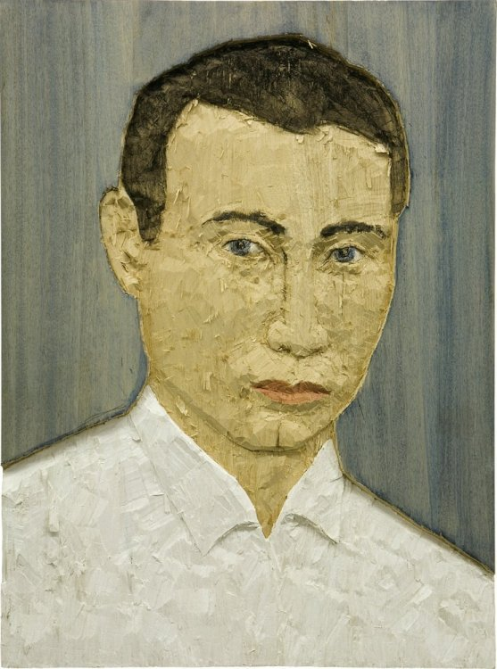 Stephan Balkenhol - Portrait of a man (Relief)