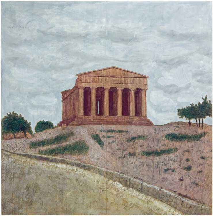 Stephan Balkenhol - Temple (Relief)