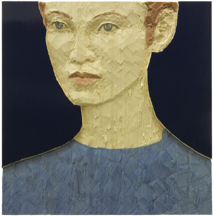 Stephan Balkenhol - Portrait of a woman (Relief)