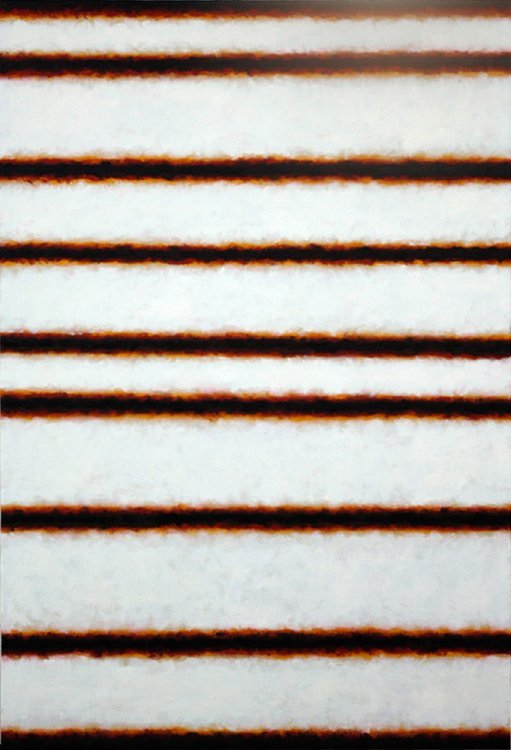 Leon Tarasewicz - Abstraction (Horizontal Brown & White)