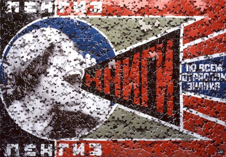 Vik Muniz - Lengiz!, after Rodchenko