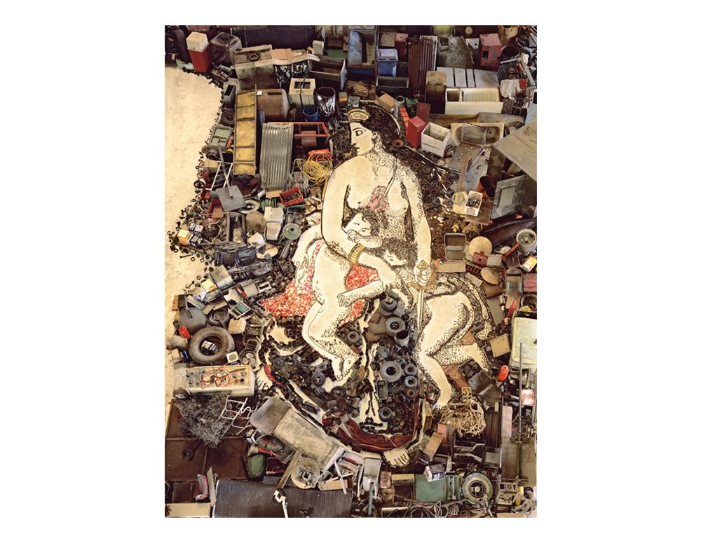 Medea about to kill her children, after Eugene Delacroix