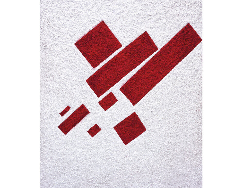 Suprematist composition: eight red rectangles, after Kazimir Malevich