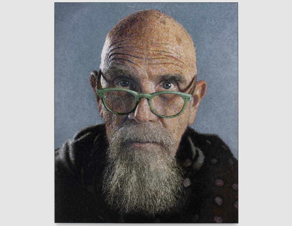 Self-Portrait (Jade Glasses)/Mosaic