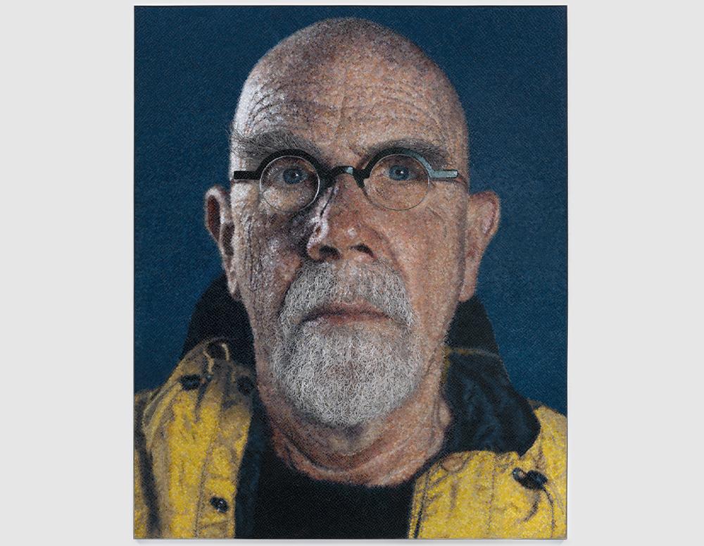 Self-Portrait (Yellow Raincoat)/Micro Mosaic